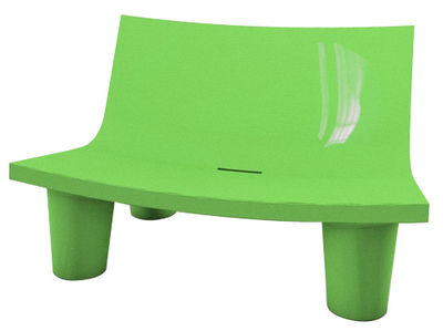 Canapé Low Lita Love / L 118 cm - Version laquée - Slide laqué vert en matière plastique