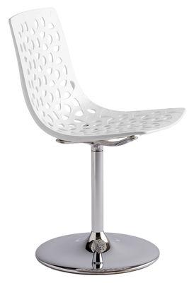 Chaise Pivotante Tess Plastique Hauteur Reglable Blanc Opaque