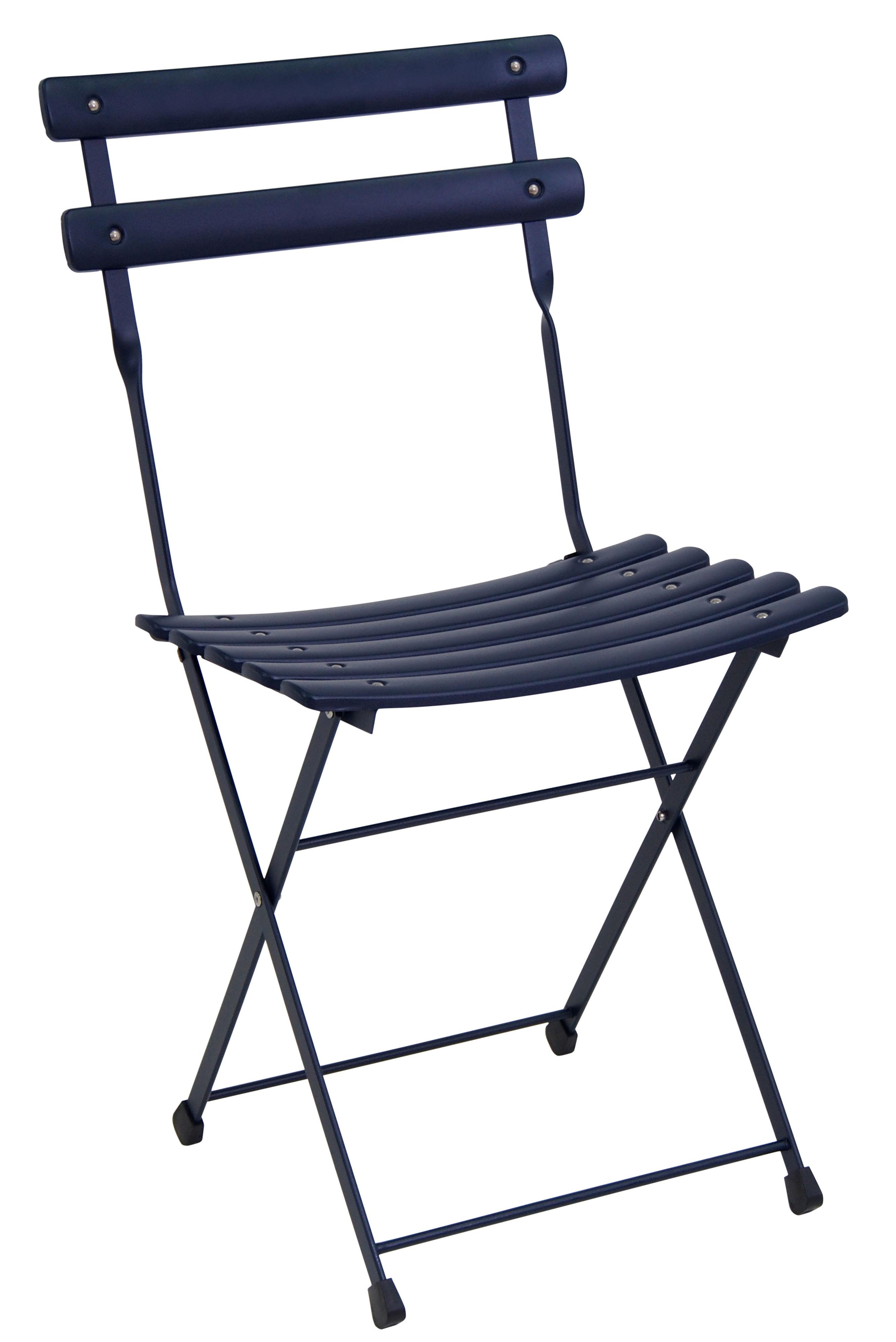 Mobilier - Chaises, fauteuils de salle à manger - Chaise pliante Arc en Ciel / Métal - Emu - Bleu foncé - Acier verni
