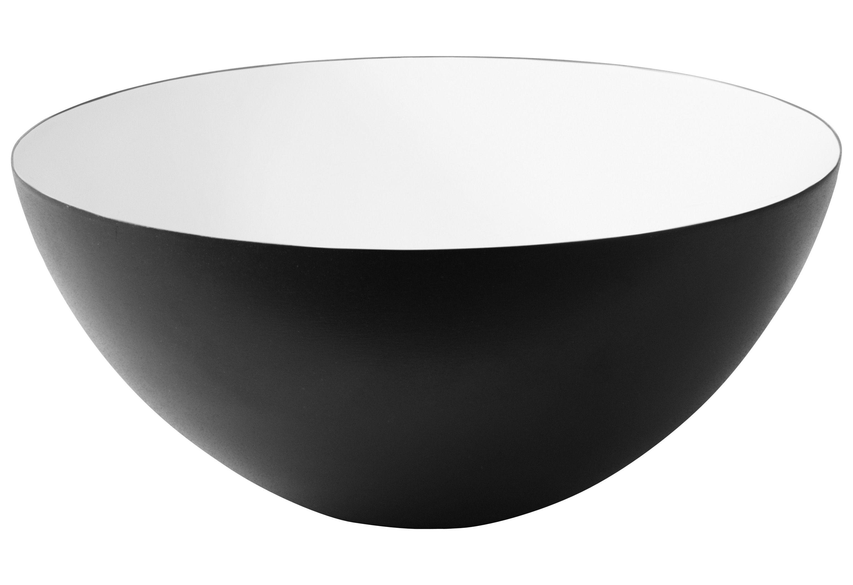 Tavola - Ciotole - Ciotola Krenit - Ø 16 cm di Normann Copenhagen - Nero/interno bianco - Acciaio smaltato