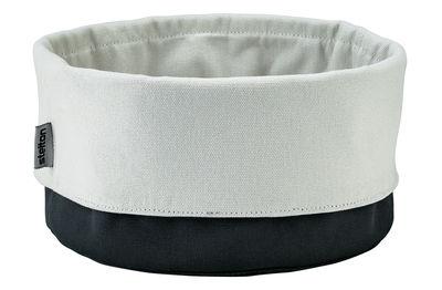 Arts de la table - Corbeilles, centres de table - Corbeille à pain Bread Bag / Coton - Hauteur ajustable / Ø 23 cm - Stelton - Noir/sable - Coton biologique