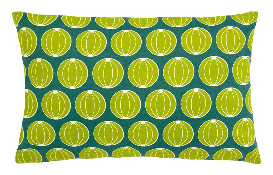 Interni - Cuscini  - Cuscino da esterno Envie d'ailleurs - Meloni / 68x44 cm - Fermob - Motivi meloni / verde giada - Cotone idrorepellente, Espanso