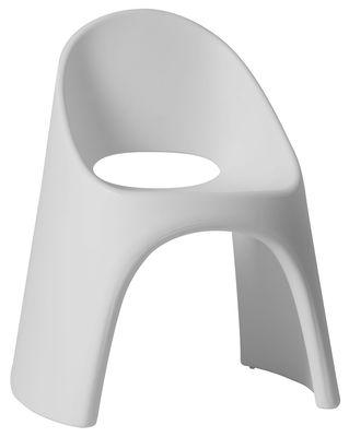 Mobilier - Chaises, fauteuils de salle à manger - Fauteuil empilable Amélie / Plastique - Slide - Blanc - polyéthène recyclable