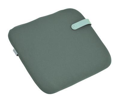 Galette de chaise Color Mix / 41 x 38 cm - Fermob bleu lagune,vert safari en tissu