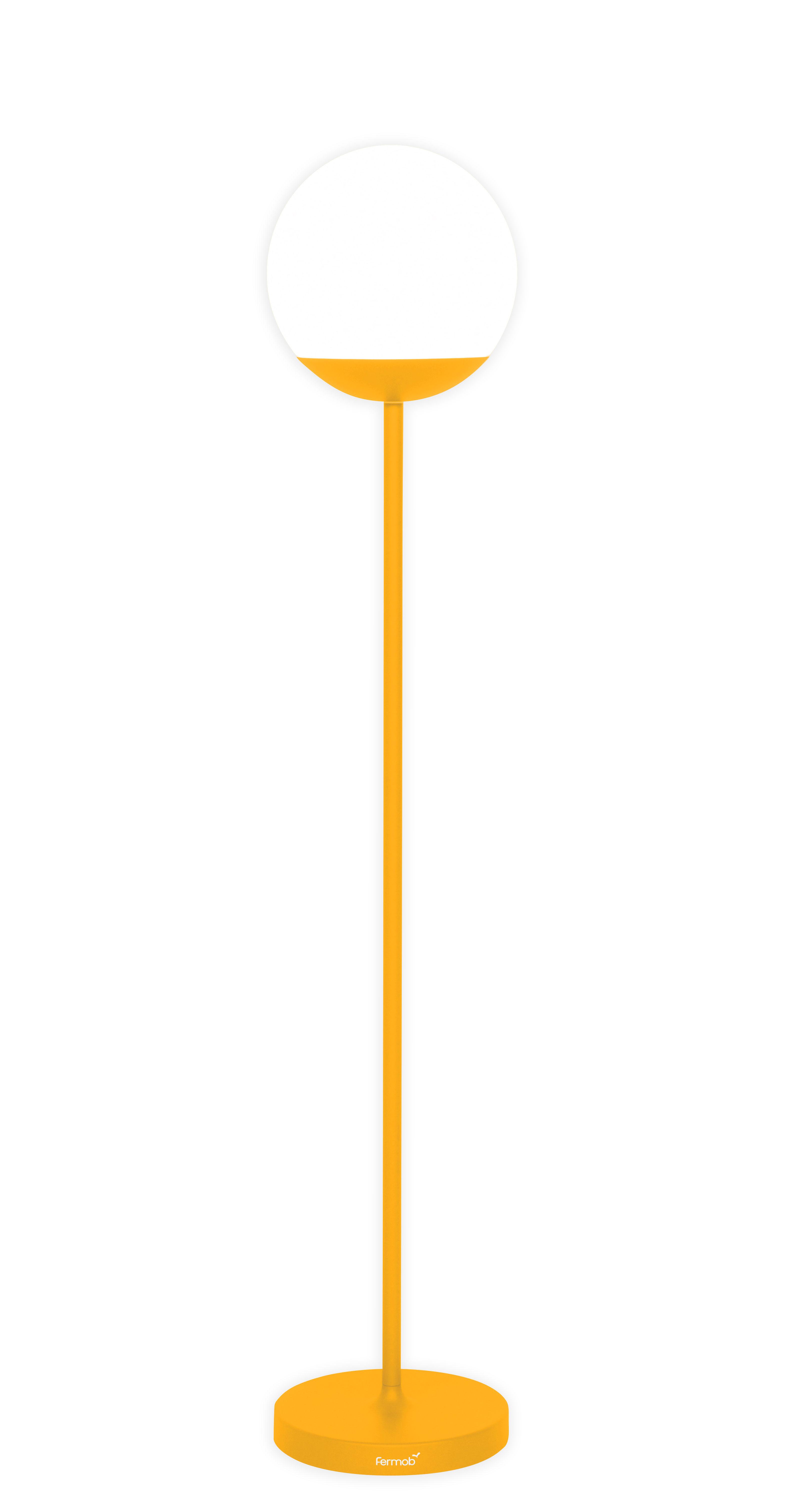 Illuminazione - Lampade da terra - Lampada a stelo senza fili Mooon! LED - / Wireless - H 134 cm di Fermob - Miele - Alluminio, Polietilene
