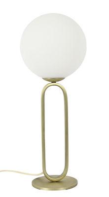 Luminaire - Lampes de table - Lampe de table Cime Large / Ø 20 cm - ENOstudio - Ø 20 cm / Blanc & or - Acier, Verre soufflé