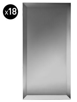 Déco - Miroirs - Miroir autocollant Mirrorize Rectangle / 30x15 cm - Set de 18 pièces - Seletti - Argent - Verre