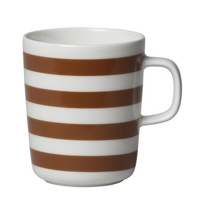 Arts de la table - Tasses et mugs - Mug Tasaraita / 25 cl - Marimekko - Tasaraita / Marron - Grès
