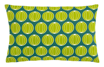 Decoration - Cushions & Poufs - Envie d'ailleurs - Melons Outdoor cushion - 68x44 cm by Fermob - Jade green - Foam, Water repellant cotton