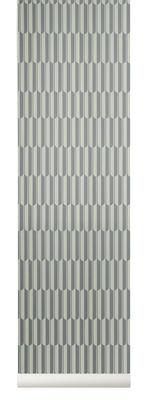 Déco - Stickers, papiers peints & posters - Papier peint Arch / 1 rouleau - Larg 53 cm - Ferm Living - Gris / Blanc cassé - Toile intissée