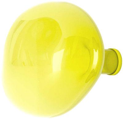 Patère Bubble Large / Ø 15 cm - Verre soufflé bouche - Petite Friture citron en verre