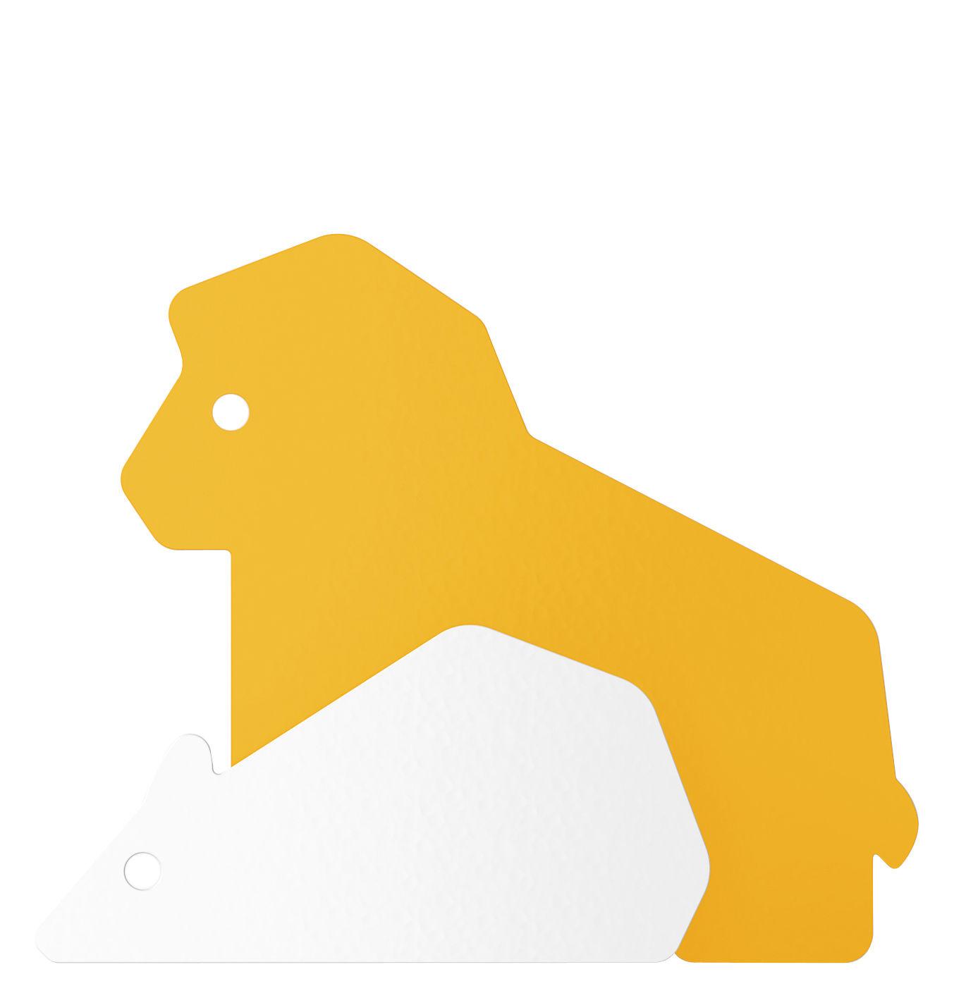 Mobilier - Portemanteaux, patères & portants - Patère Le Lion et le Rat - ENOstudio - Lion & rat / Curry - Acier peint