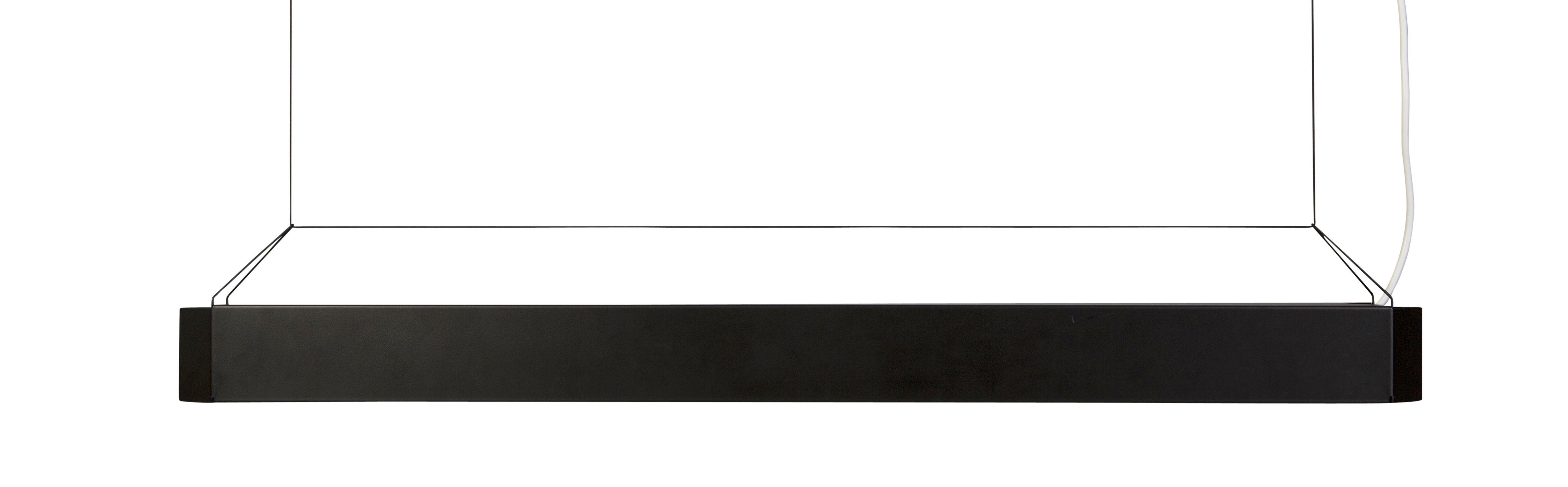 Lighting - Pendant Lighting - Pen lamp Pendant - LED - L 101 cm by OK Design pour Sentou Edition - Black - Epoxy lacquered metal