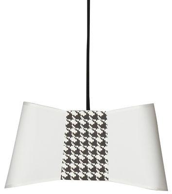 Petit Couture Pendelleuchte / L 32 cm - Designheure - Weiß,Schwarz