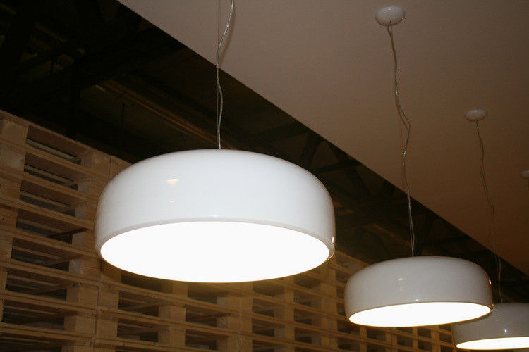 Flos Plafoniera Led : Smithfield pendelleuchte halogenlampe grau taupe by flos made