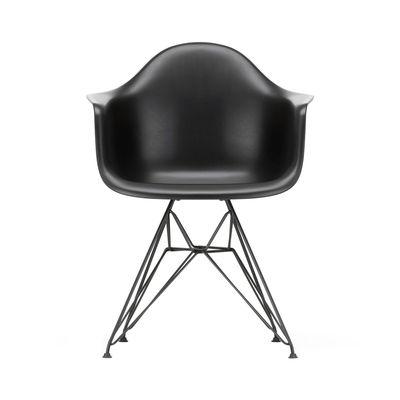 Arredamento - Sedie  - Poltrona DAR - Eames Plastic Armchair - / (1950) - Gambe nere di Vitra - Nero / Piedi neri - Acciaio laccato epossidico, Polipropilene