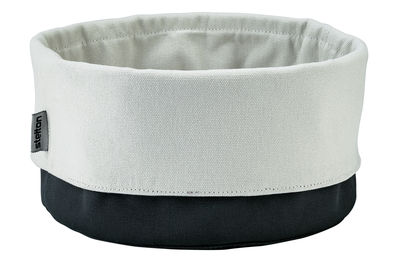 Tavola - Cesti, Fruttiere e Centrotavola - Portapane Bread Bag di Stelton - Nero/sabbia - Cotone biologico