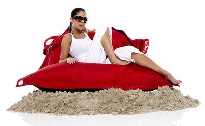 Mobilier - Poufs - Pouf Buggle-up / Sangles ajustables - Tissu acrylique - Fatboy - Rouge - Polyester