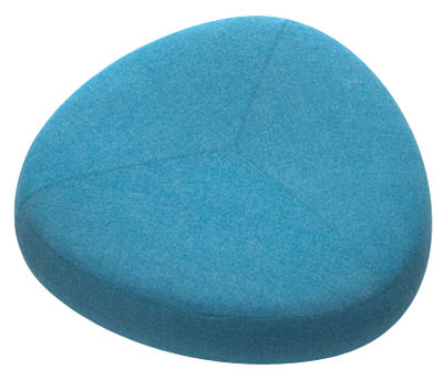 Furniture - Poufs & Floor Cushions - Kipu Large Pouf - 130 x 130 cm by Lapalma - Blue - Kvadrat fabric, Polyurethane foam