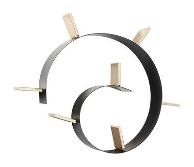 Möbel - Regale und Bücherregale - Popworm Regal / L 320 cm - Kartell - Schwarz & goldfarben - Gefärbter und feuerbeständiger PVC