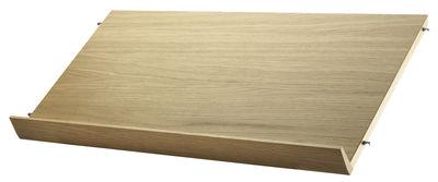 Möbel - Regale und Bücherregale - String® System Regal / Zeitschriftenhalter - L 78 cm - String Furniture - Eiche - Eichenholzfurnier