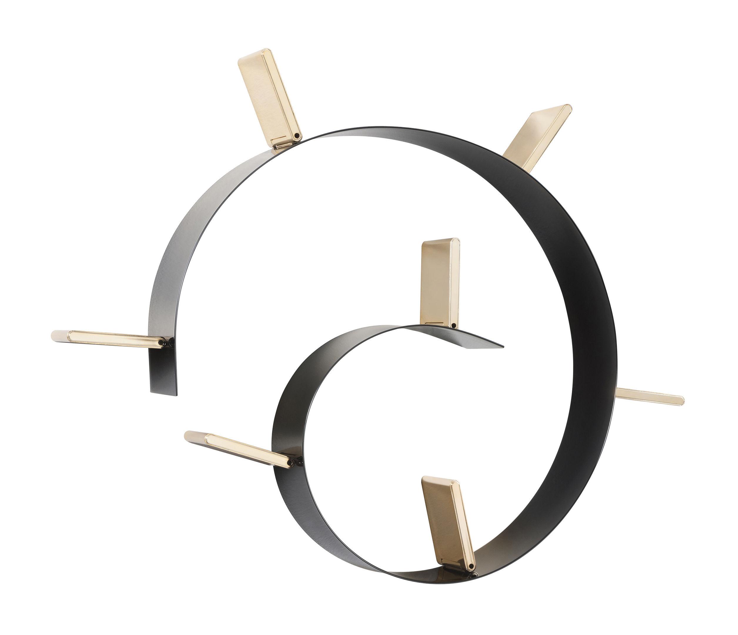 Arredamento - Scaffali e librerie - Scaffale Popworm - / L 320 cm di Kartell - Nero & oro - PVC colorato in massa e ignifugo