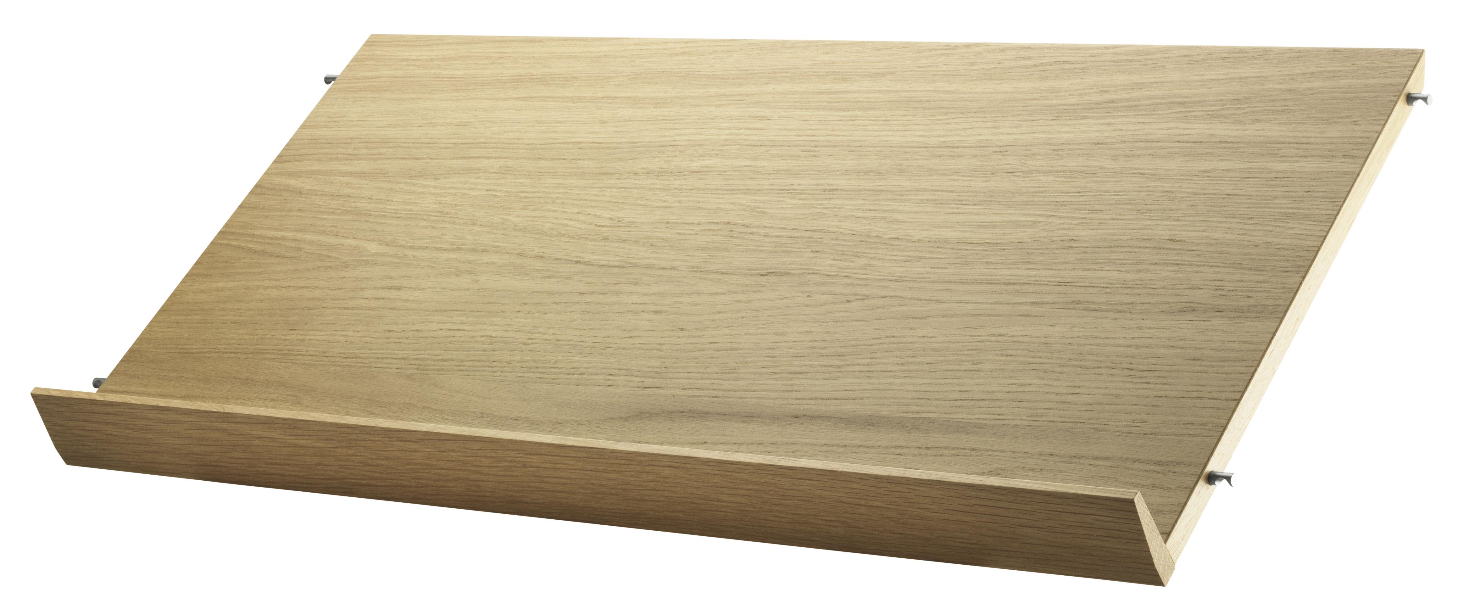 Arredamento - Scaffali e librerie - Scaffale String System - / Portariviste - L 78 cm di String Furniture - Rovere - Compensato di rovere