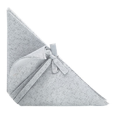 Arts de la table - Nappes, serviettes et sets - Serviette de table Iittala X Issey Miyake - Iittala - Gris clair - Polyester