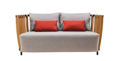 Swing Sofa / L 166 cm - Ethimo - Grau,Schwarz,Teak, natur