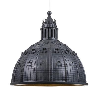 Illuminazione - Lampadari - Sospensione Cupolone LED - / Cupola basilica San Pietro - Ø 70 cm - Resina di Seletti - Antracite - Resina
