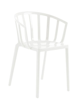 Furniture - Chairs - Generic AC Venice Stackable armchair - / Polycarbonate by Kartell - White - Polycarbonate
