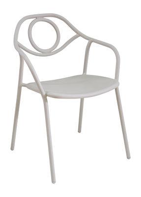 Zahir Stapelbarer Sessel / Metall - Emu - Weiß mattiert