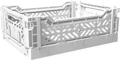 Accessories - Desk & Office Accessories - Midi Box Storage rack - Foldable L 40 cm by AYKASA - White - Polypropylene