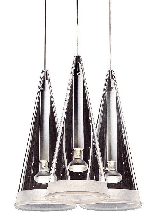 Luminaire - Suspensions - Suspension Fucsia 3 - Flos - Verre transparent - Verre