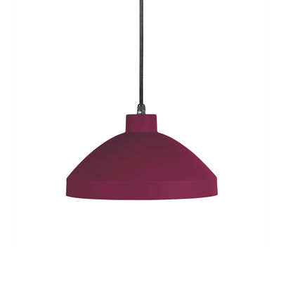 Luminaire - Suspensions - Suspension Pría / Métal - Ø 28,8 cm - OUTDOOR / Câble avec prise (branchement secteur) - EASY LIGHT by Carpyen - Bordeaux - Métal