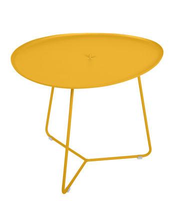 Table basse Cocotte / L 55 x H 43,5 cm - Plateau amovible - Fermob miel en métal