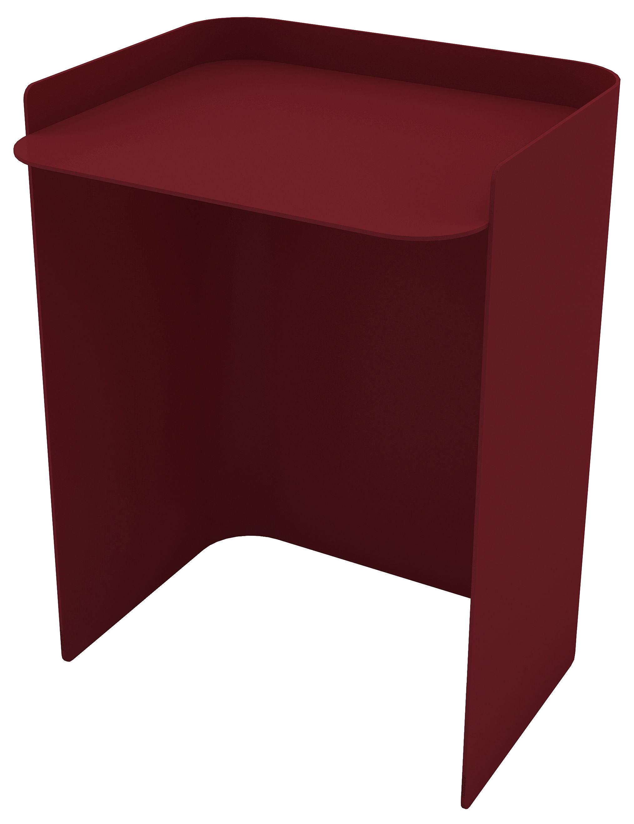 Mobilier - Tables basses - Table d'appoint Flor / Large - H 49 cm - Matière Grise - Rouge Pourpre - Acier peint