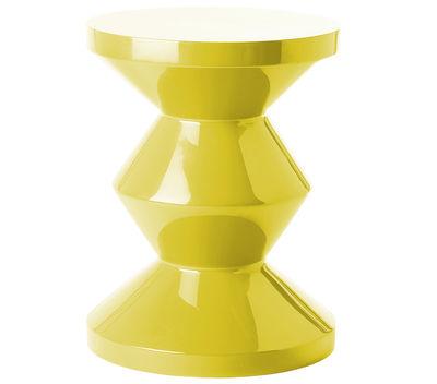 Tabouret Zig Zag / Plastique - Pols Potten jaune en matière plastique