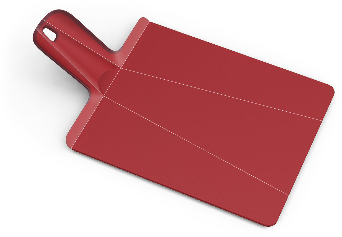 Cucina - Pratici e intelligenti - Tagliere Chop2Pot - pieghevole di Joseph Joseph - Rosso - Polipropilene