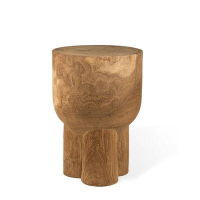 Arredamento - Tavolini  - Tavolino d'appoggio Pile - / Tavolo da appoggio - legno scolpito a mano di Pols Potten - Legno naturale - Legno di Dimb