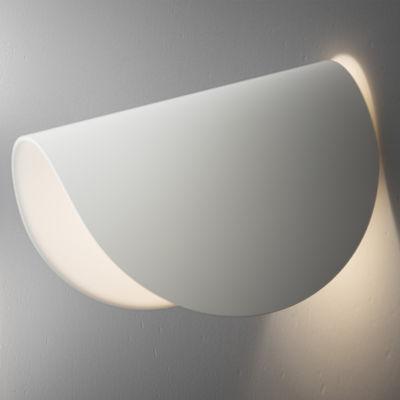 Leuchten - Wandleuchten - IO LED Wandleuchte - Fontana Arte - Blanc - klarlackbeschichtetes Aluminium