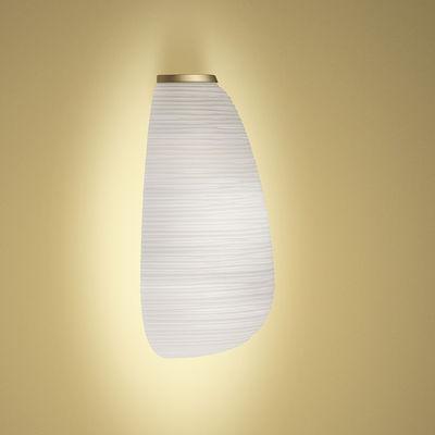 Leuchten - Wandleuchten - Rituals 1 SEMI My Light Wandleuchte / Glas - Bluetooth - Foscarini - Weiß & Gold - lackiertes Metall, Satiniertes mungeblasenes Glas