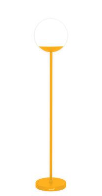 Lighting - Floor lamps - Mooon! LED Wireless floor lamp - / wireless - H 134 cm by Fermob - Honey - Aluminium, Polythene