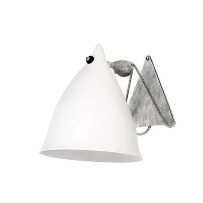 Luminaire - Appliques - Applique Cornette en porcelaine - Tsé-Tsé - Porcelaine blanche mate - Porcelaine