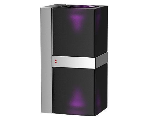 Illuminazione - Lampade da parete - Applique Cubetto - Black Glass - Doppia di Fabbian - Nero / viola - Metallo cromato, Vetro