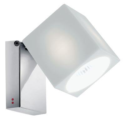 Applique Cubetto White /Plafonnier - Orientable - Fabbian blanc en métal/verre