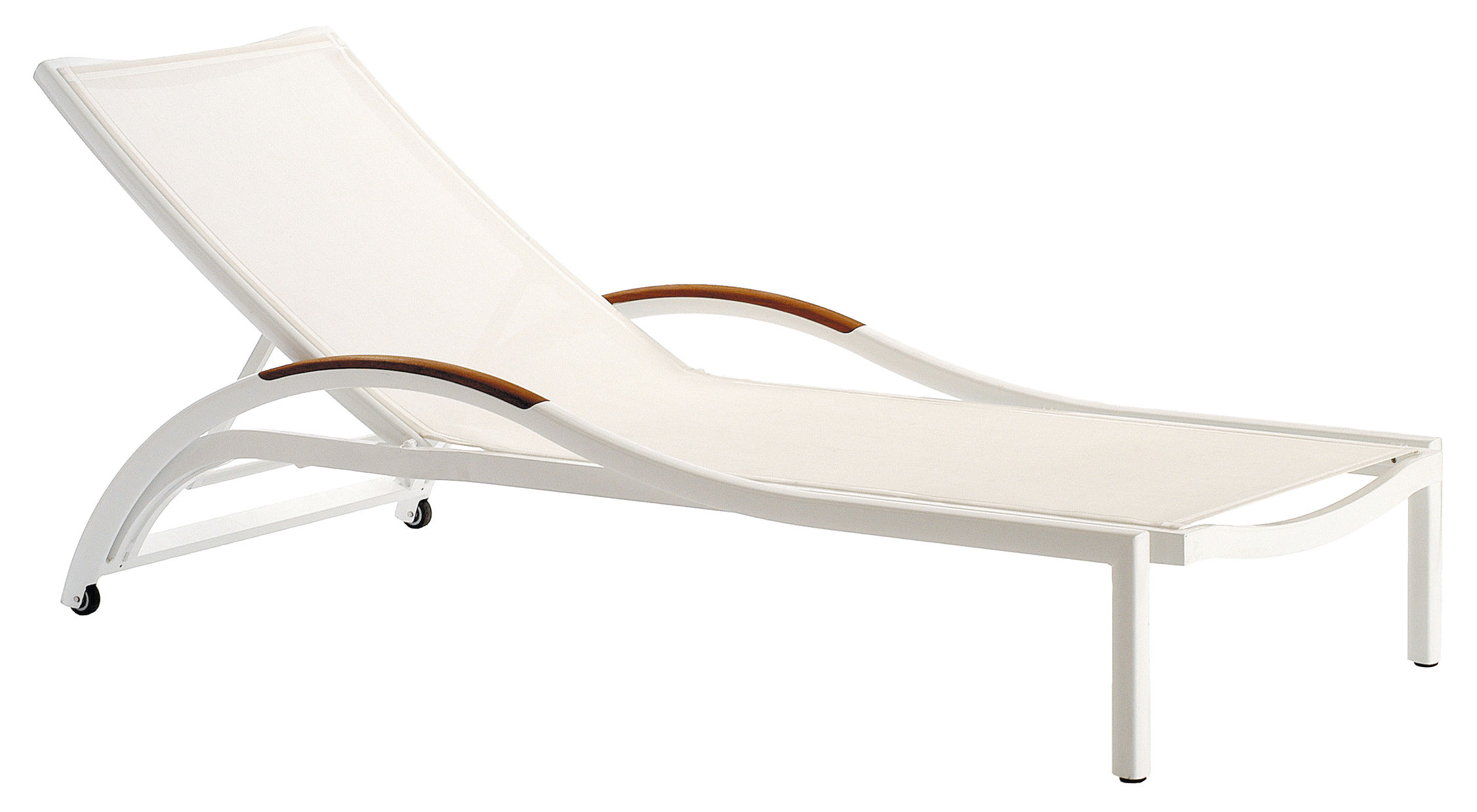 bain de soleil ego premiere teck toile blanche made in. Black Bedroom Furniture Sets. Home Design Ideas