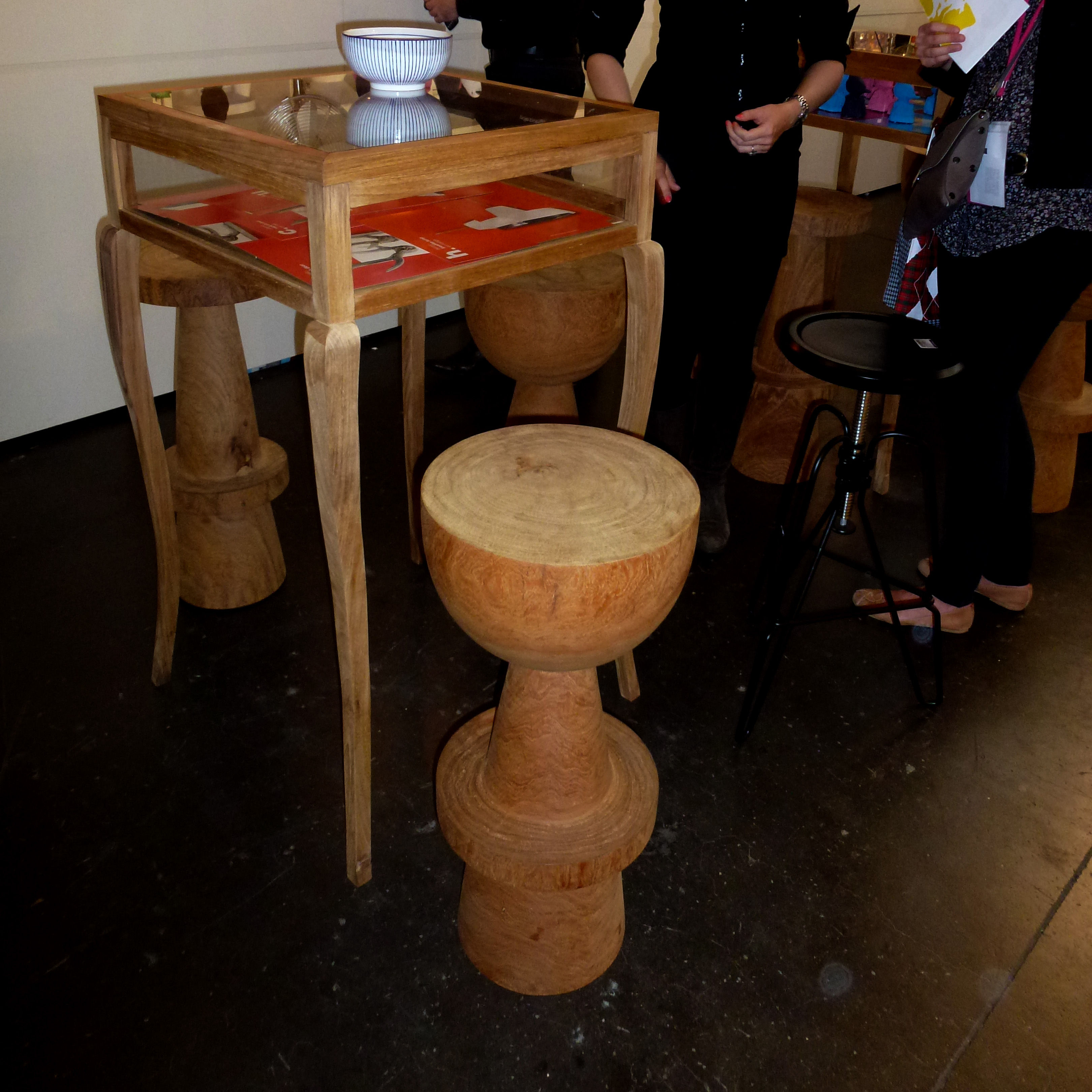 Bar Stool Ball By Pols Potten Natural Wood Made In