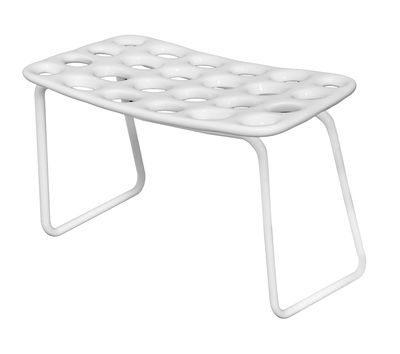 Furniture - Benches - Chips Bench - Bench L 82 cm by MyYour - White - Painted stainless steel, Polythene