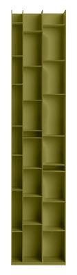 Bibliothèque Random 3C / L 46 x H 217 cm - MDF Italia lichen foncé en bois